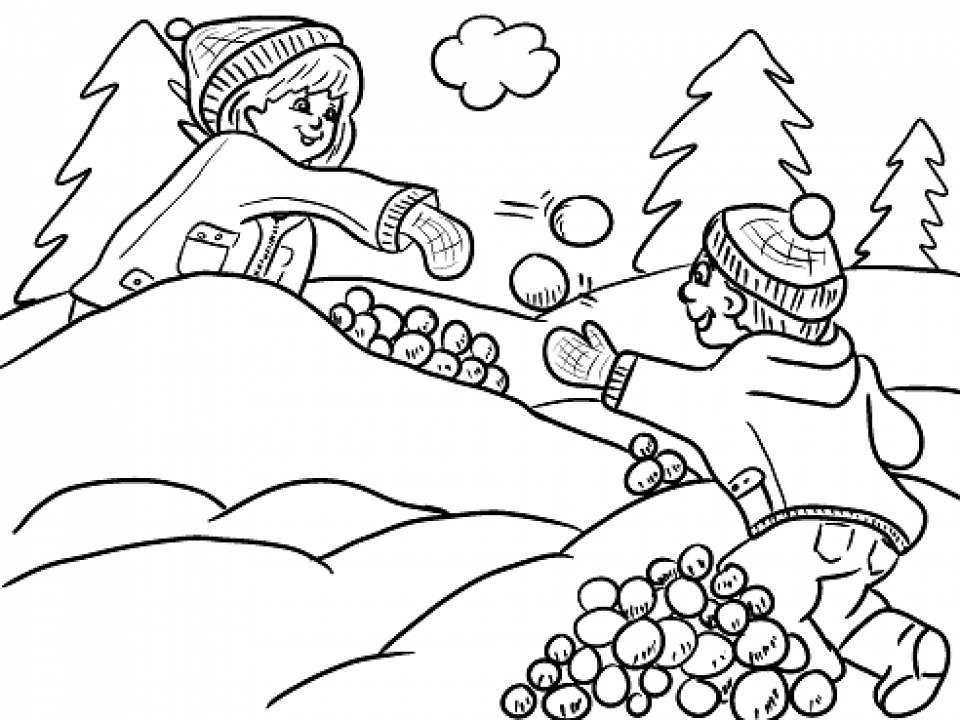 Get this printable winter coloring pages online 387827 for Snow coloring pages free