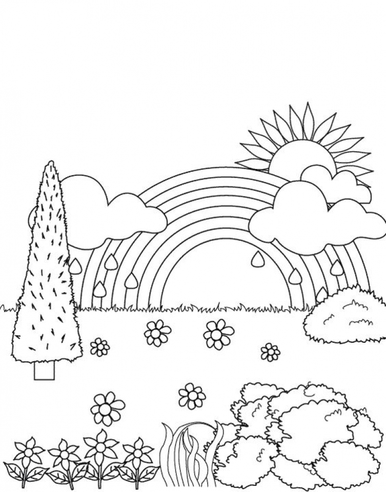 Get This Rainbow Coloring Pages