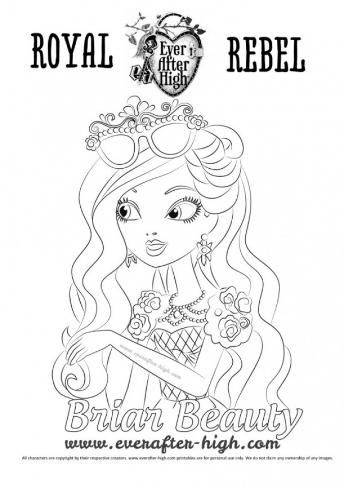 ever after high briar beauty coloring pages - get this royal rebels ever after high girl coloring pages