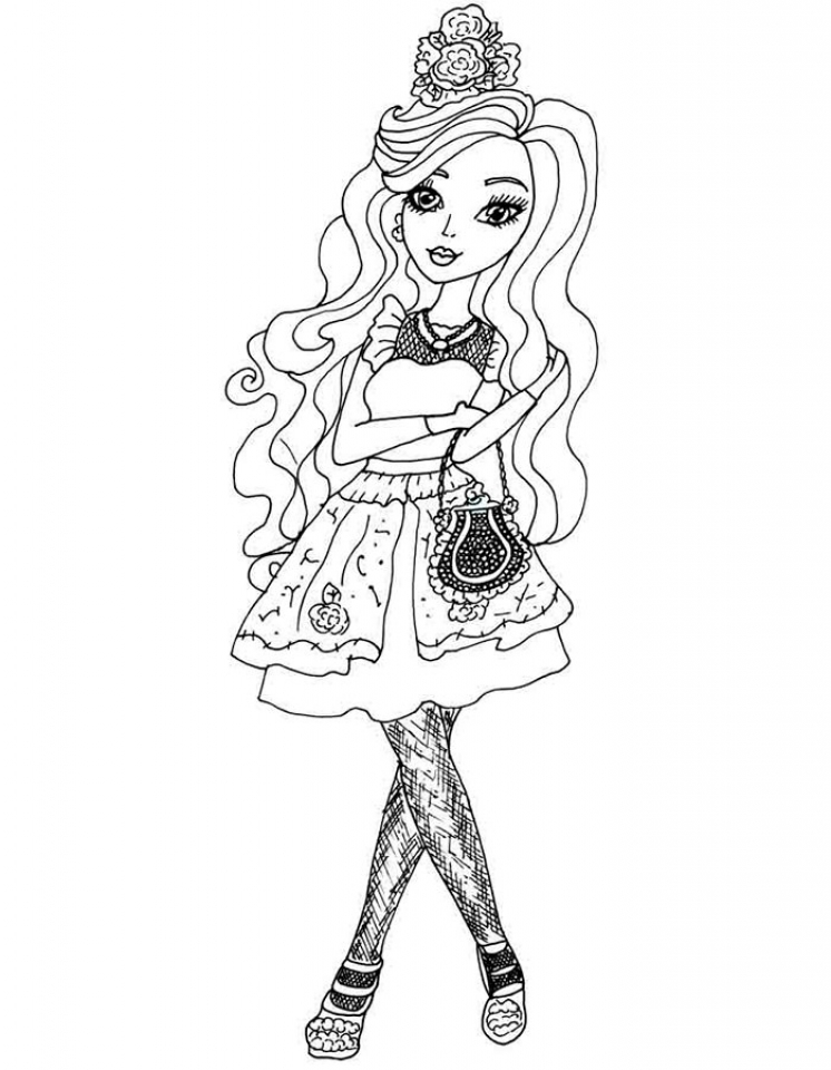 Royal Rebels Ever After High Girl Coloring Pages Printable RA82L