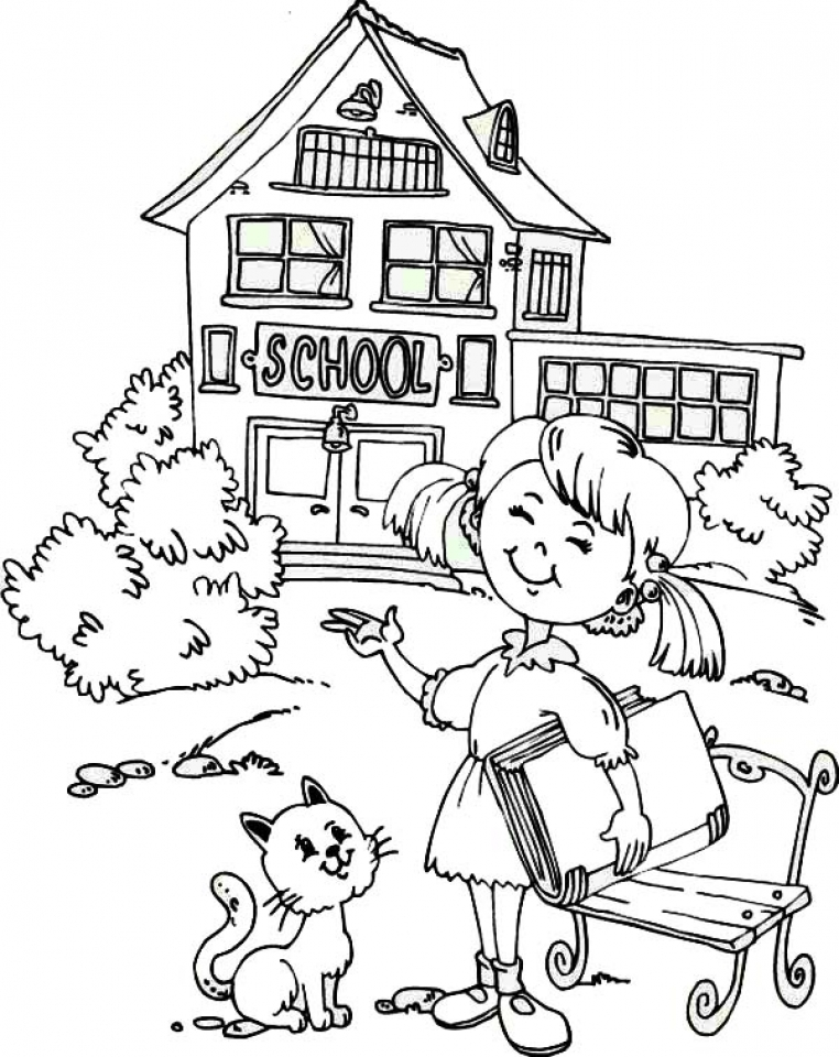 20+ Free Printable School Coloring Pages ...