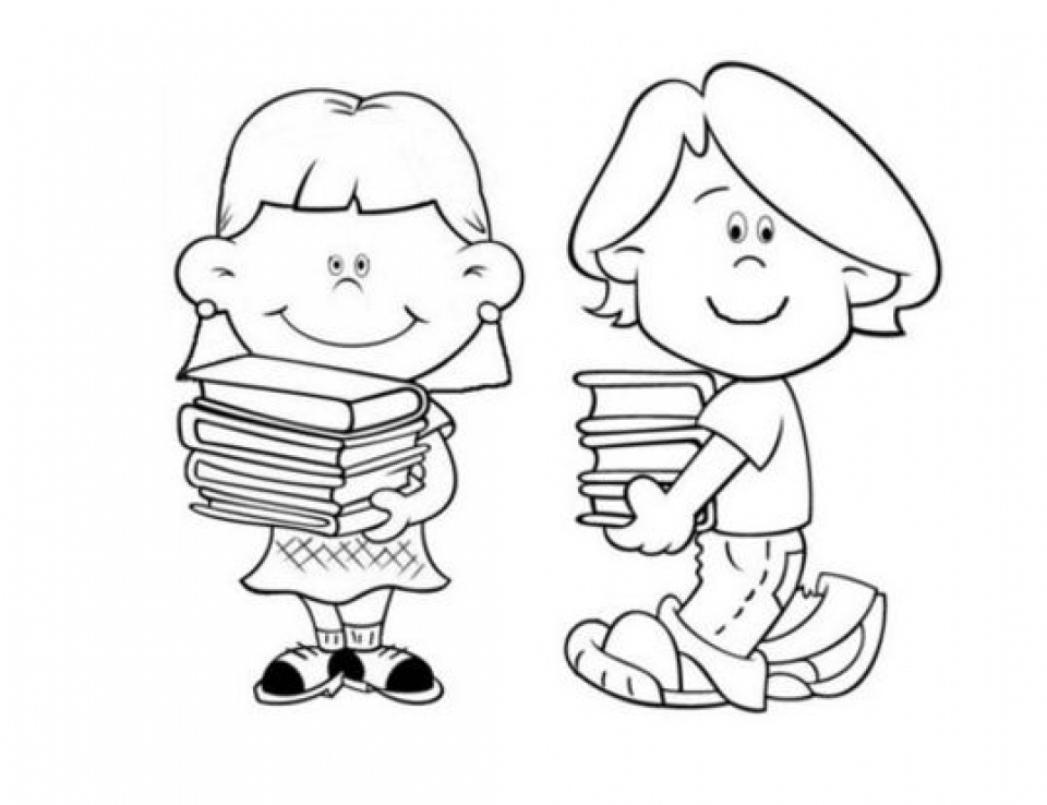 School Coloring Pages for Preschoolers   cv5468