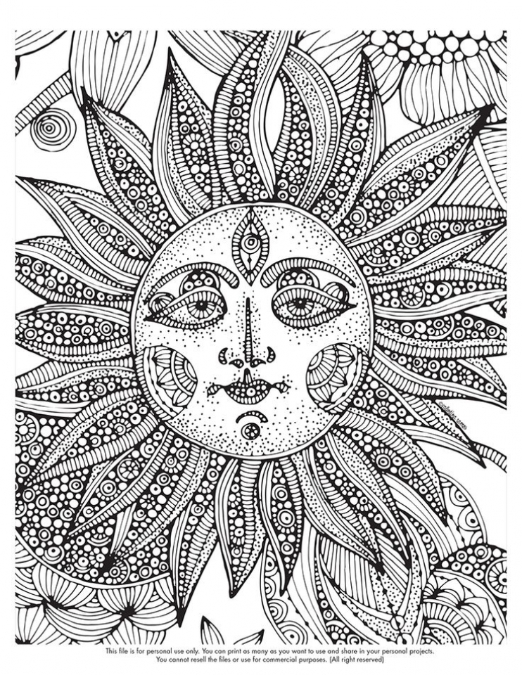20+ Free Printable Space Coloring Pages for Adults ...