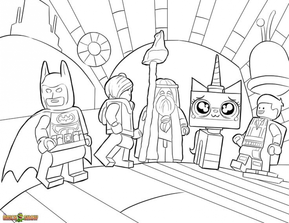 The Lego Movie Coloring Pages Free Printable 107437