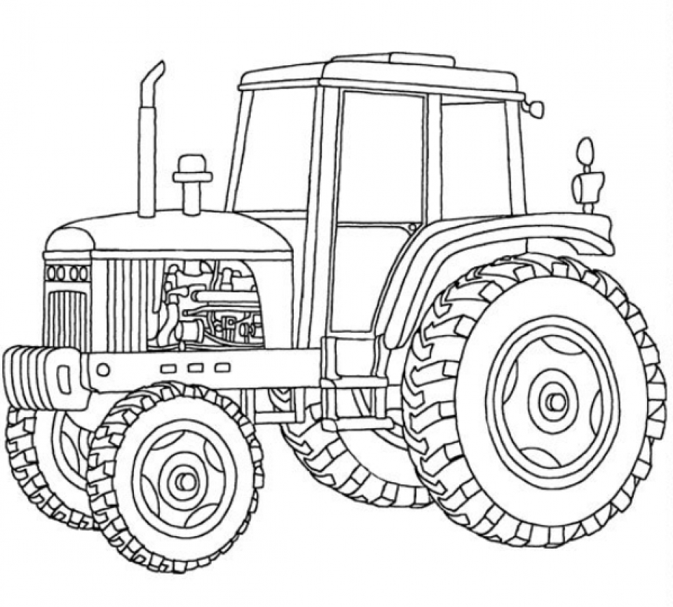 Get this tractor coloring pages free printable 76955 for Tractor coloring pages to print