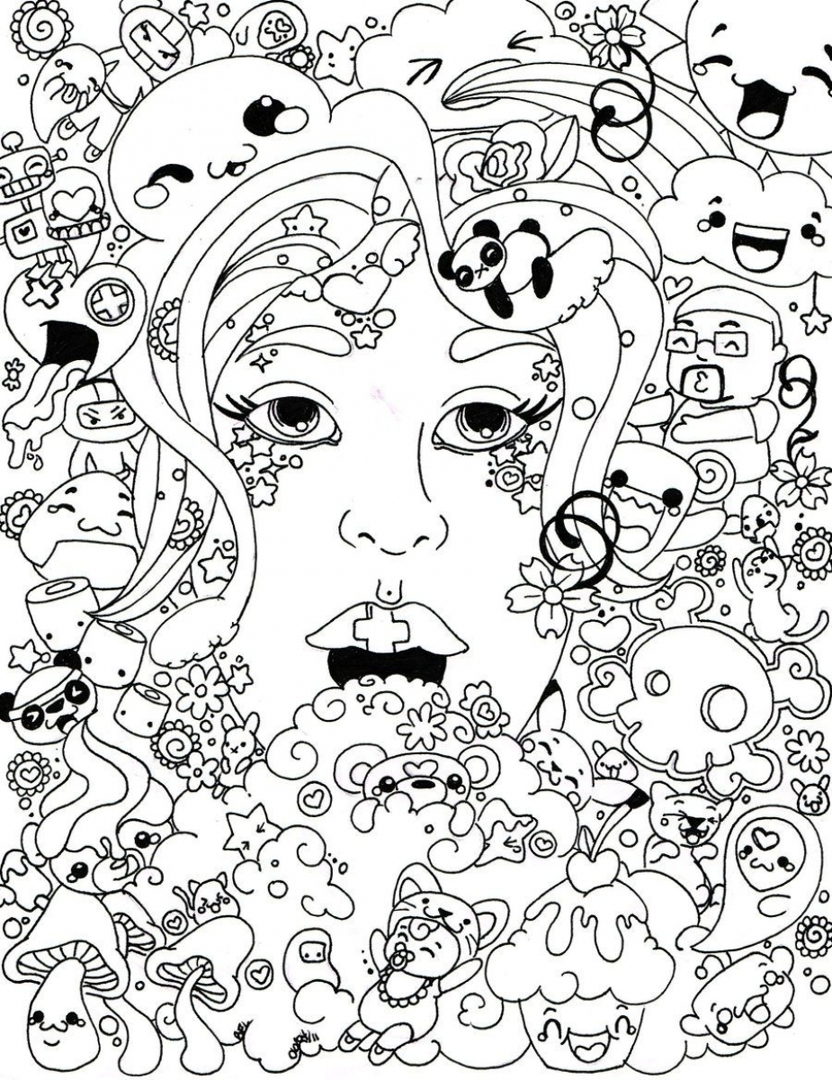 Get This Trippy Coloring Pages for Adults TQ83B
