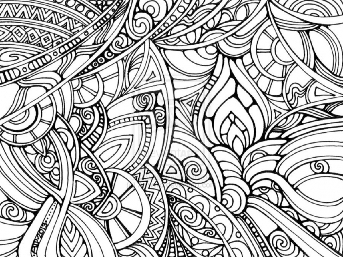 Get This Trippy Coloring Pages for Adults YA62B !