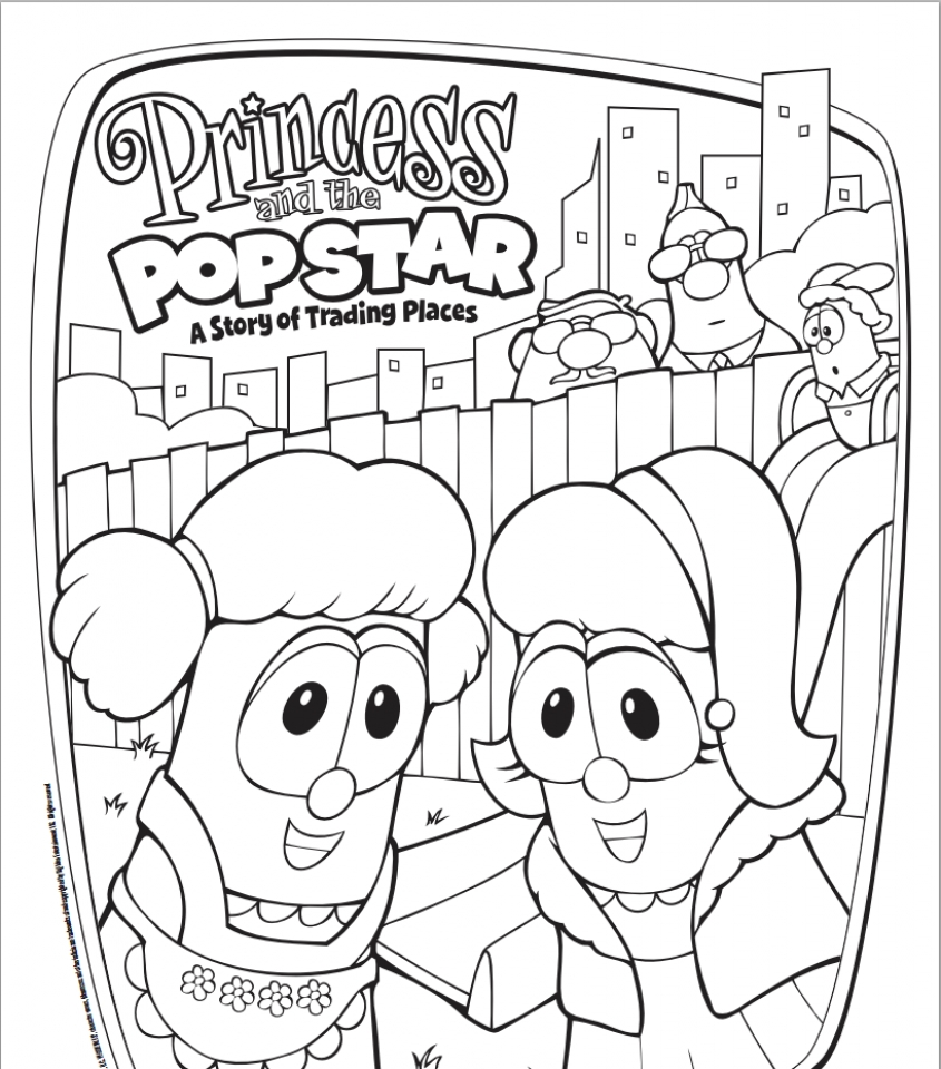 Get This Veggie Tales Coloring Pages Free Printable fyo97