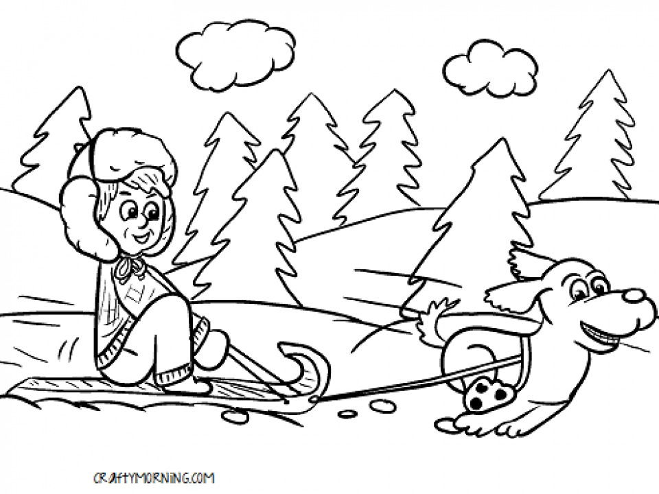 Winter Coloring Pages Free Printable 772663