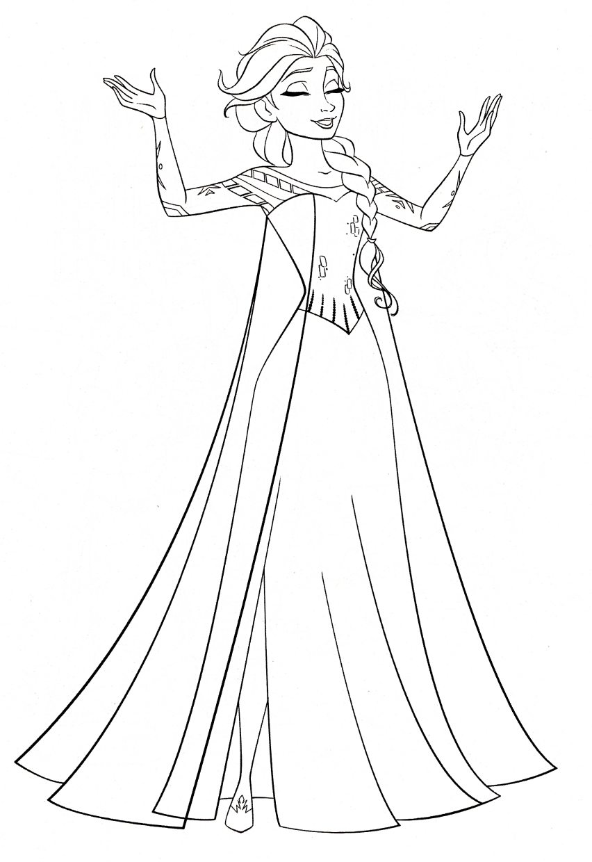 Get This Disney Queen Elsa Coloring Pages Frozen