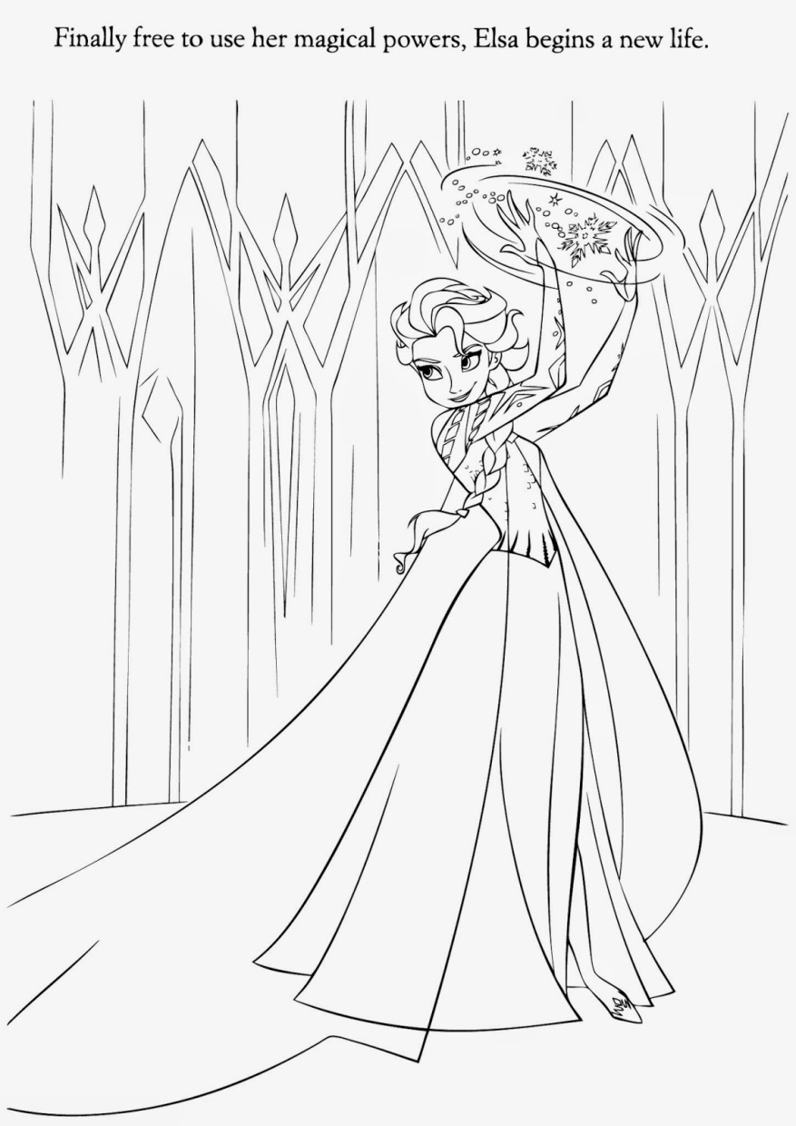 Disney Queen Elsa Coloring Pages Frozen ABXT18