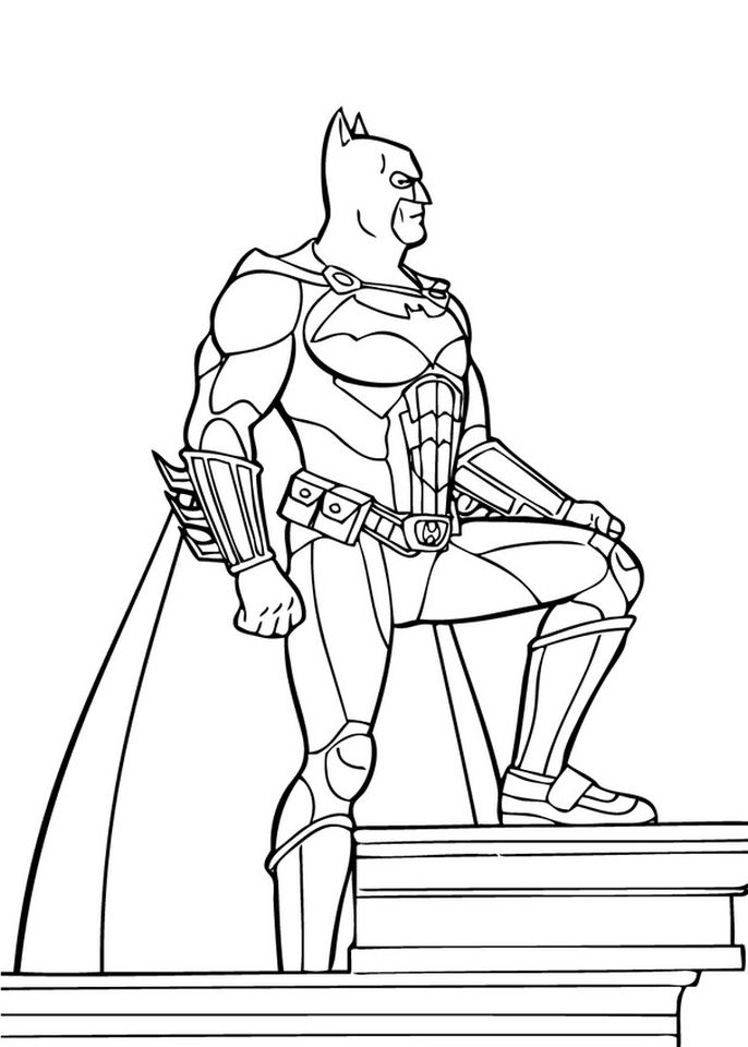 free printable batman coloring pages dc superhero 95381 - Free Printable Batman Coloring Pages