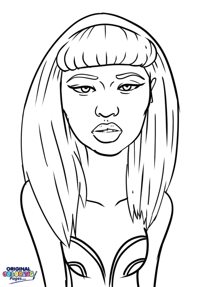 Get This Nicki Minaj Coloring Pages To Print 87310
