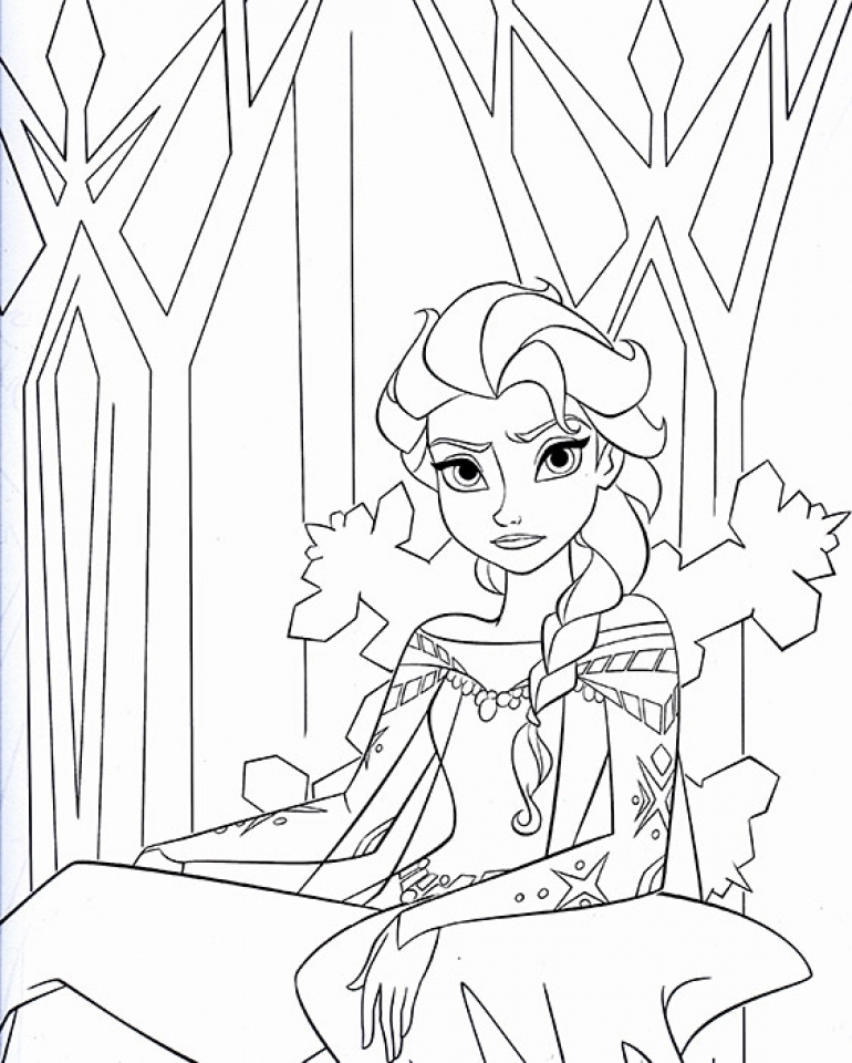 disney princess elsa coloring pages free to print agr51 - Free Elsa Coloring Pages