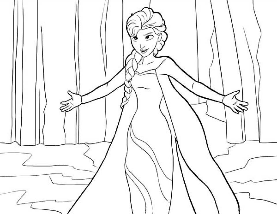 92 Elsa Coloring Pages Free To Print