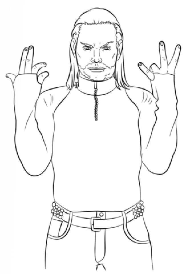 jeff hardy coloring pages free - photo#4