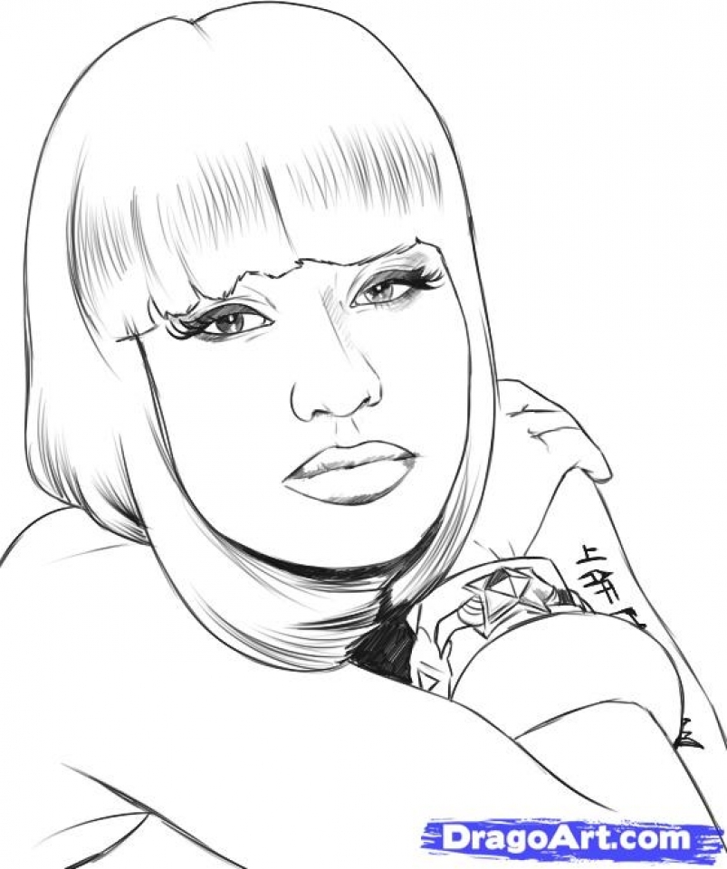Get This Nicki Minaj Coloring Pages To Print 21784