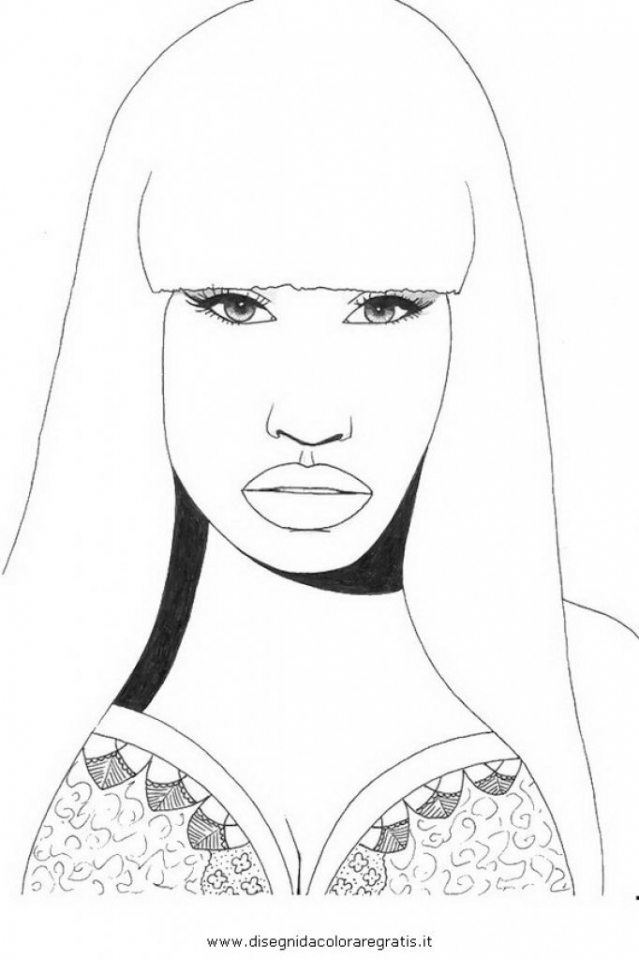 Get This Nicki Minaj Coloring Pages To Print 72845