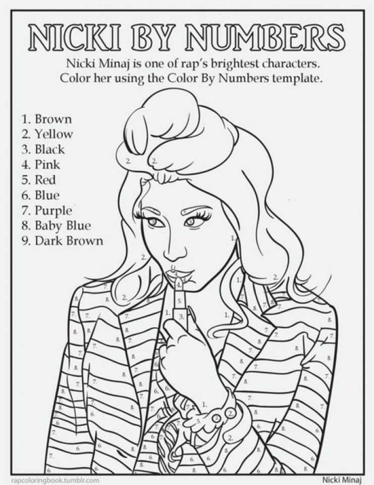 20+ Free Printable Nicki Minaj Coloring Pages - EverFreeColoring.com