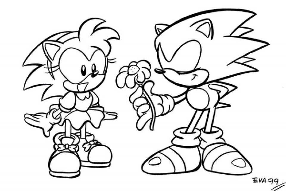 online printable sonic coloring pages for kids 73791 - Sonic Coloring Pages