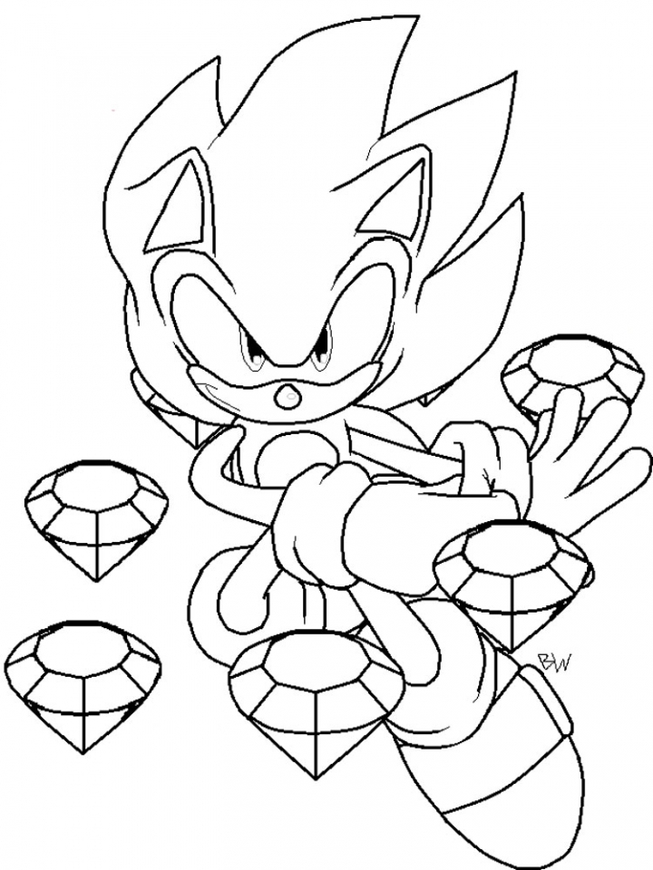 Get this online printable sonic coloring pages for kids for Free coloring pages sonic