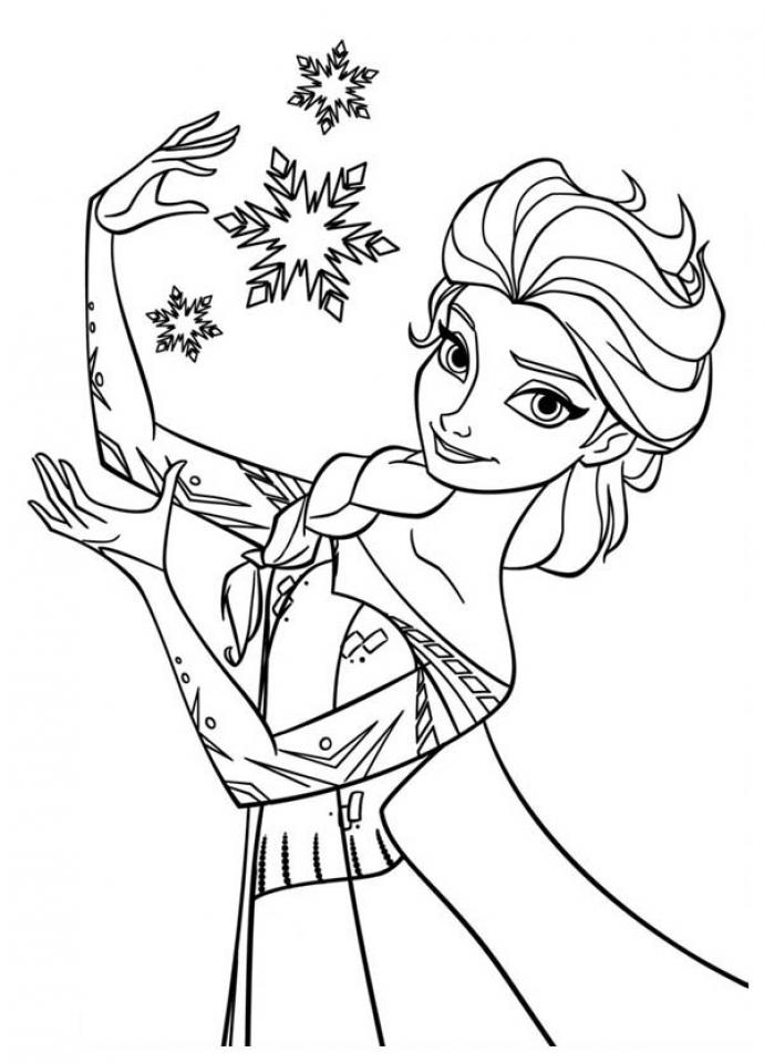 Princess Elsa Coloring Pages   36289