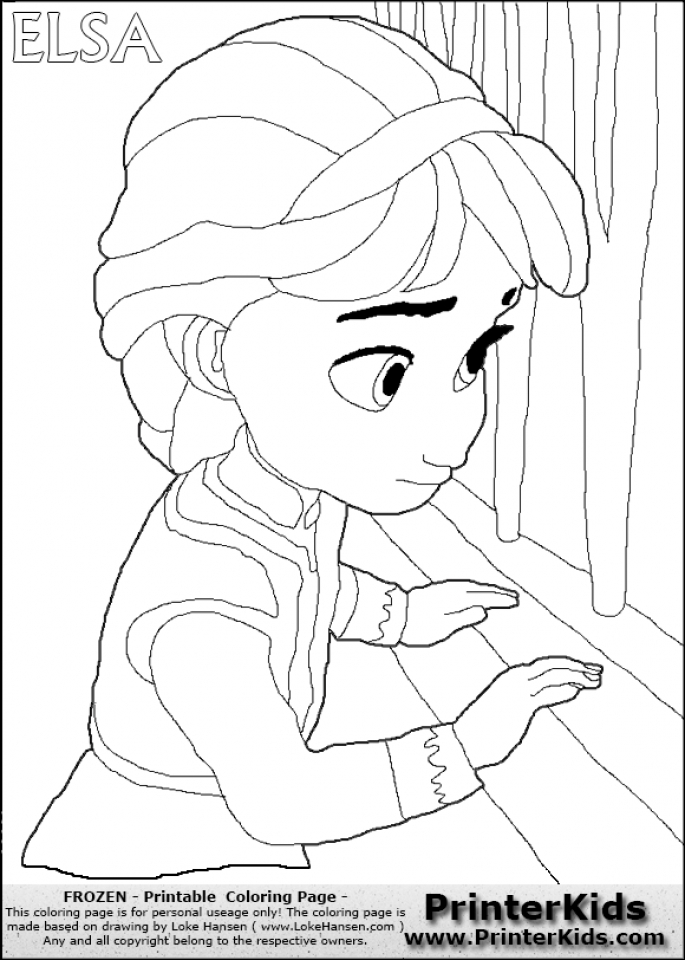 Princess elsa printable coloring pages s princess best for Elsa frozen coloring pages