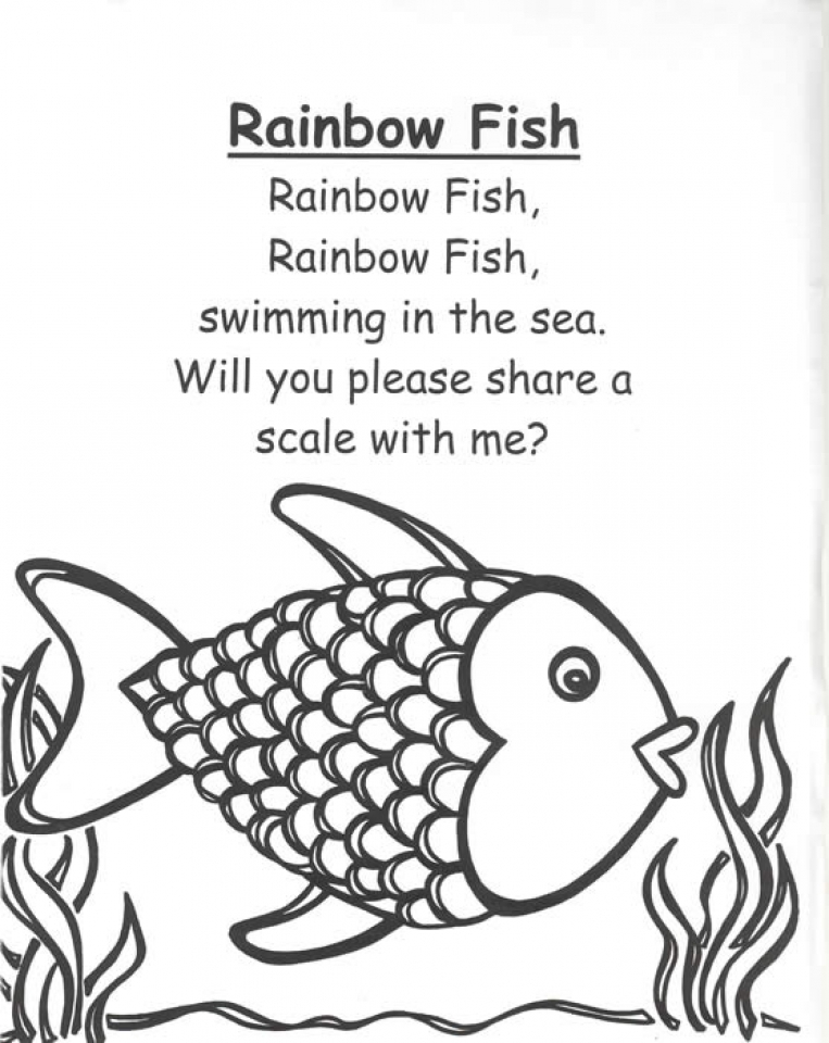 Get This Printable Rainbow Fish Coloring Sheets For Kids