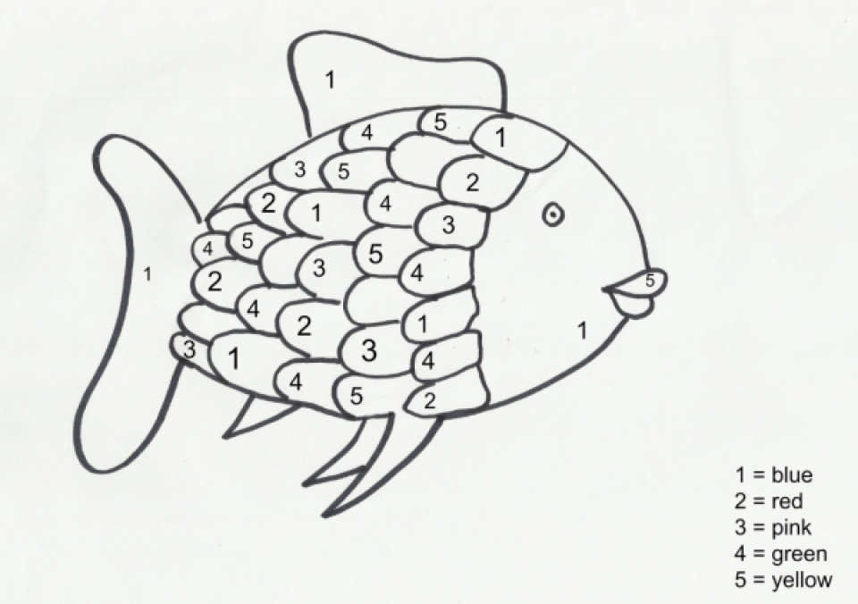 fish preschool coloring pages - photo#32