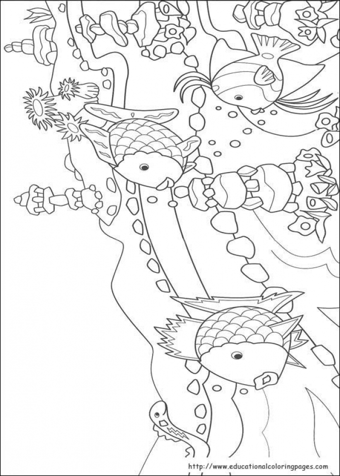 Rainbow Fish Coloring Pages For Preschoolers 51638