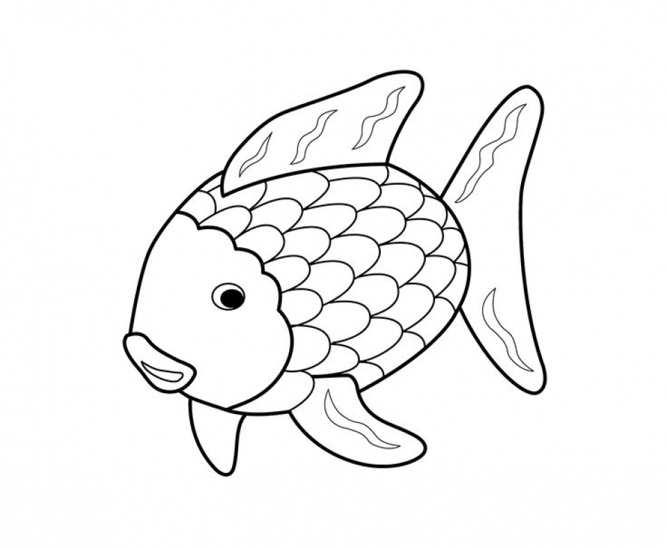 Get this rainbow fish coloring pages free 7xve1 for Free coloring fish pages