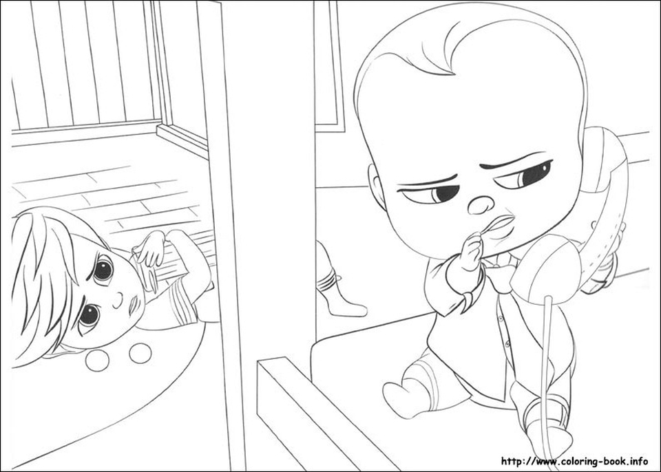 online boss baby coloring pages for kids 80431