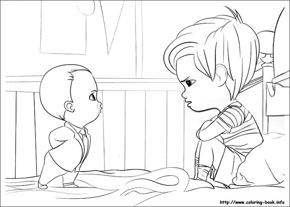 Online Boss Baby Coloring Pages For Kids 96735