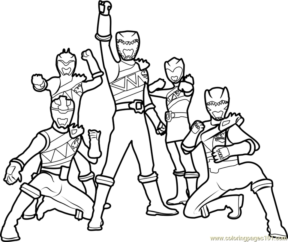 power ranger dino force coloring pages for kids 31167