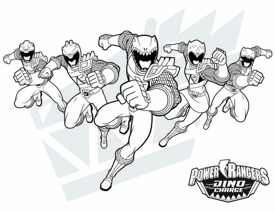 power ranger dino force coloring pages for kids 74820 - Power Rangers Dino Coloring Pages