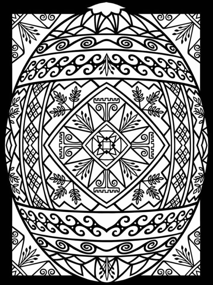 Get This Adults Printable Easter Egg Coloring Pages 77582
