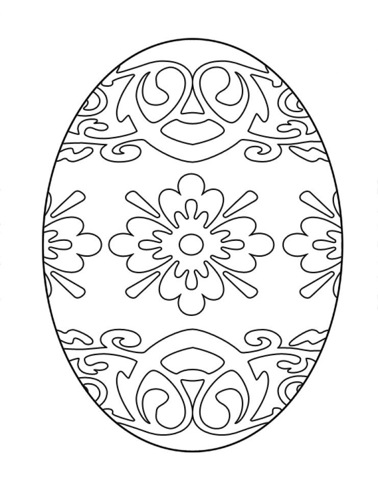Get This Advanced Coloring Pages of Easter Egg for Grown ...