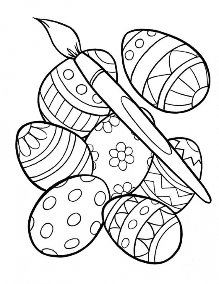 Easter Coloring Pages Advanced : Get this advanced coloring pages of easter egg for grown