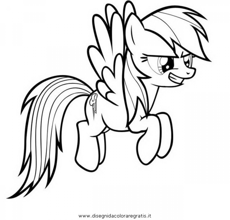 Childrens Printable Rainbow Dash Coloring Pages 15814
