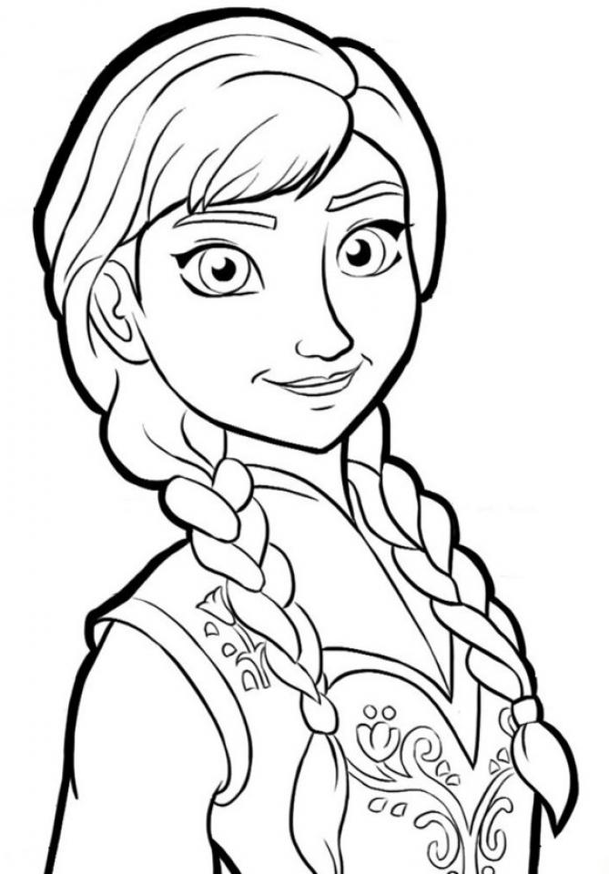 Disney Frozen Coloring Pages Princess Anna 22174
