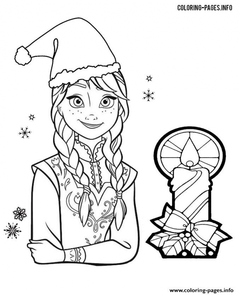 Disney Frozen Princess Anna Coloring Pages Free To Print 86730