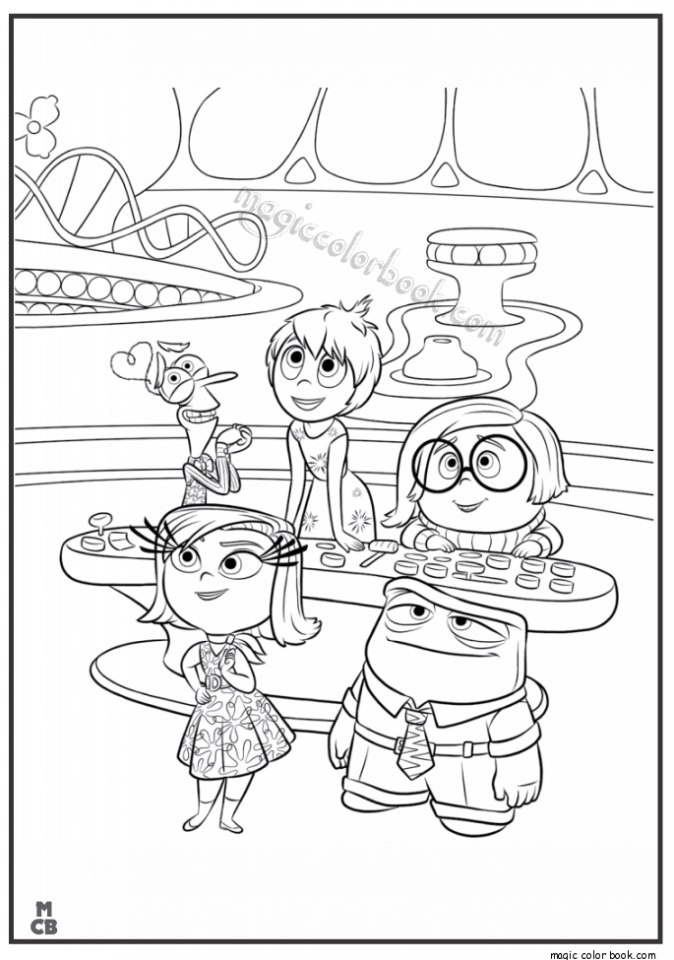 Get this disney inside out coloring pages free to print for Print out coloring pages disney