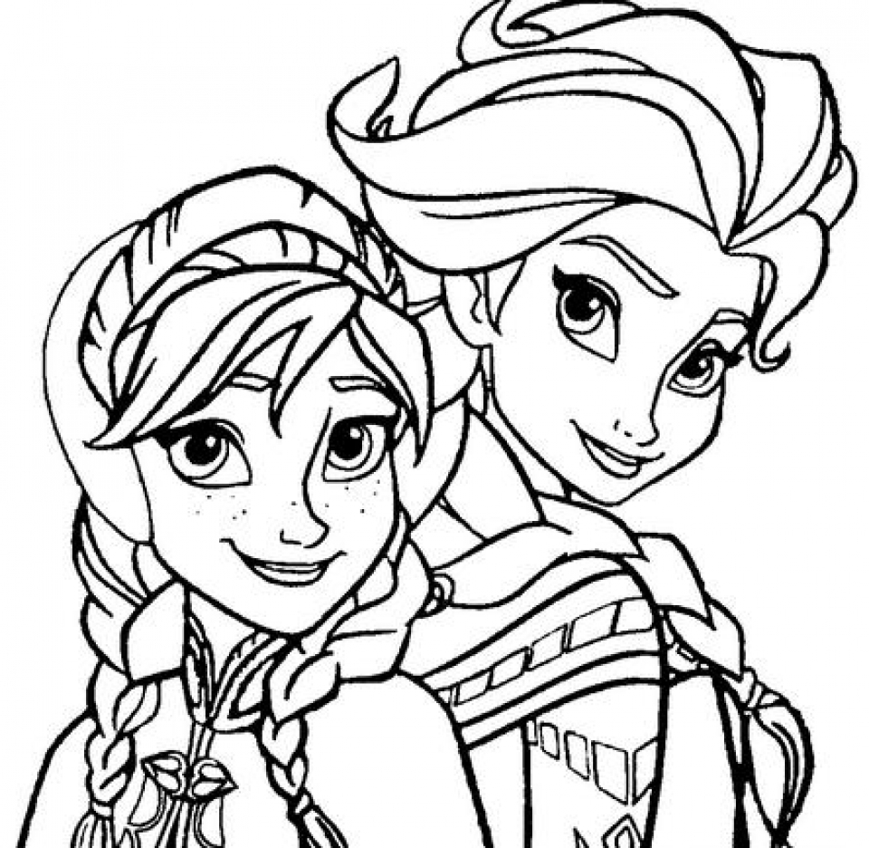 Get This Free Coloring Pages Of Princess Anna From Disney