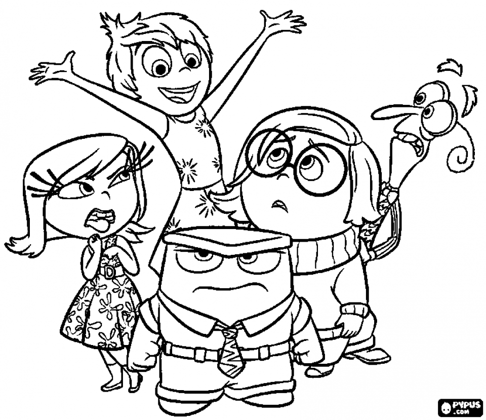 Inside out coloring pages riley - Free Inside Out Coloring Pages Disney Printable 52661
