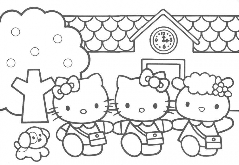 Get This Free Kitty Coloring Pages for Kids 81407 !