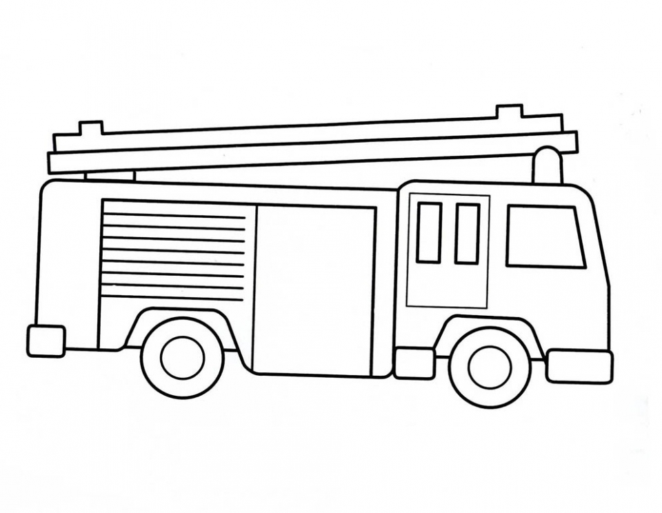 Get This Free Preschool Fire Truck Coloring Page to Print 94524