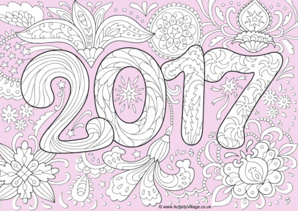 Free Preschool New Years Coloring Pages to Print   94523