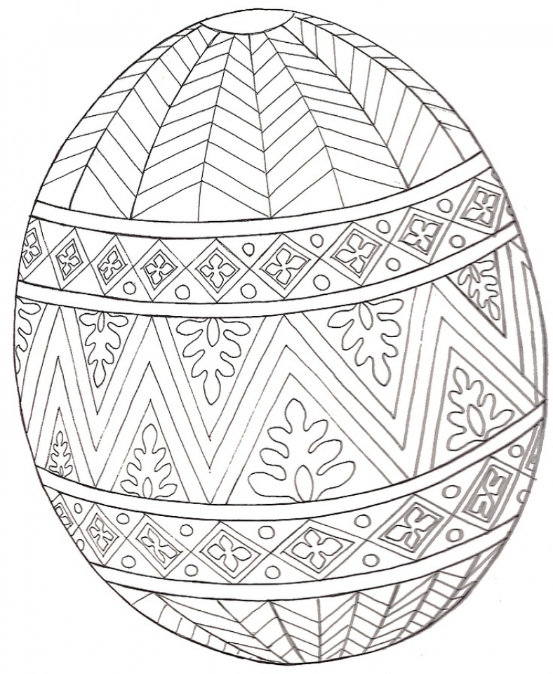 Get This Free Printable Easter Egg Coloring Pages for Adults ...