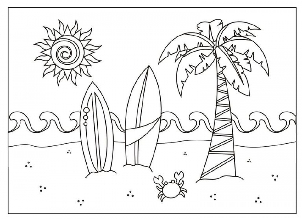 Get this free summer coloring pages online printable 81833 for Free summer printable coloring pages