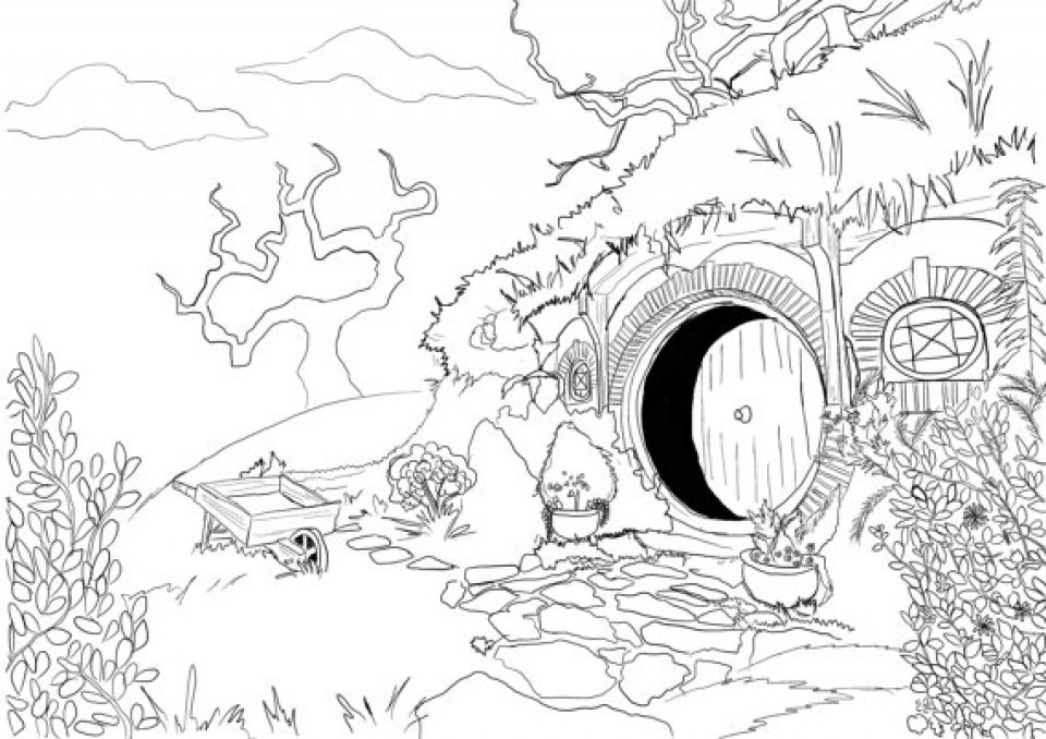 Get This Free The Hobbit Coloring Pages Online 49012